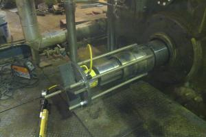 Maintenance work on a sterilizer