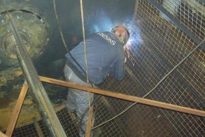 Welding of a rotor