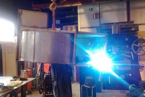 Welding of stainless steel snail-shell