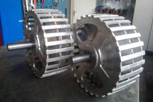 Stainless steel cage wheels with cone