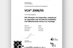 VCA certificated