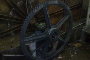 Changing of chain wheel during big maintenance works
